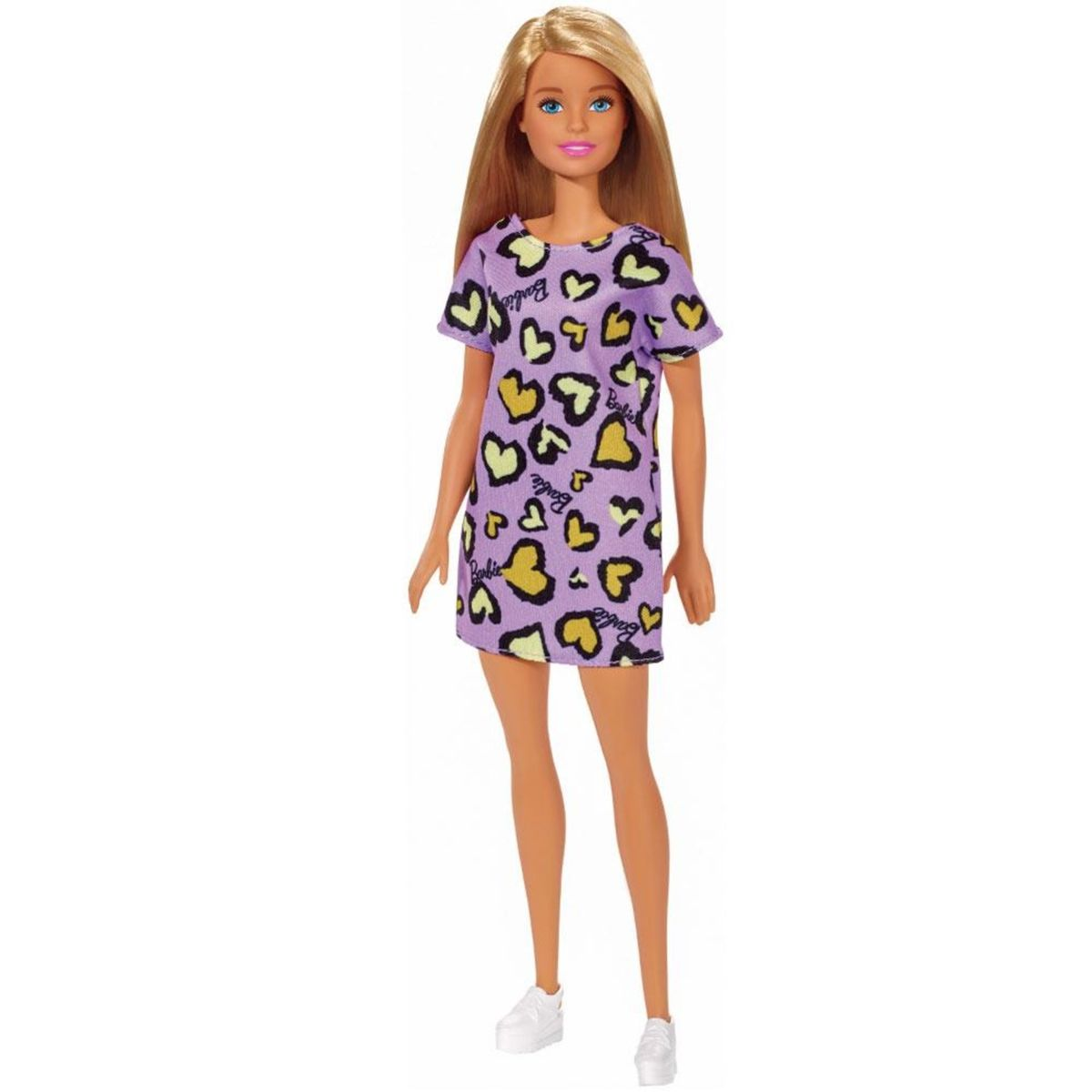 Boneca Barbie Fashion And Beauty Loira com Vestido Roxo - Mattel