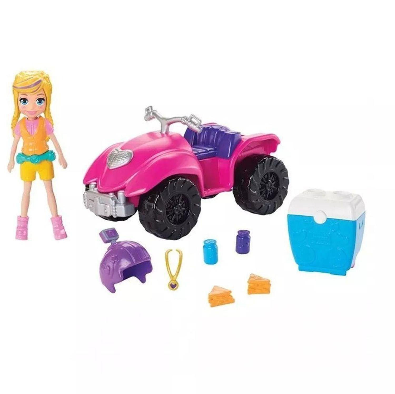 Boneca Polly Pocket e o Quadriciclo Fabuloso - Mattel