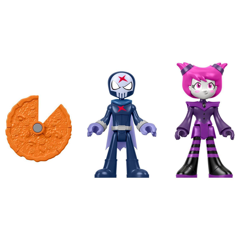 Bonecos Imaginext Teen Titans Red X e Jinx - Mattel
