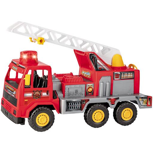 Caminhão bombeiro fire com sons e luzes - Magic Toys