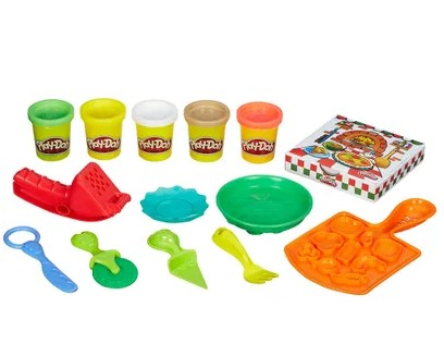 Conjunto Play-Doh Festa da Pizza com Acessórios e Embalagem de Pizza - Hasbro