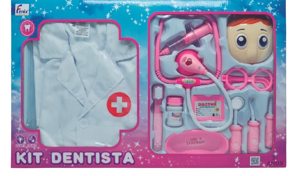 Kit dentista rosa - Fenix