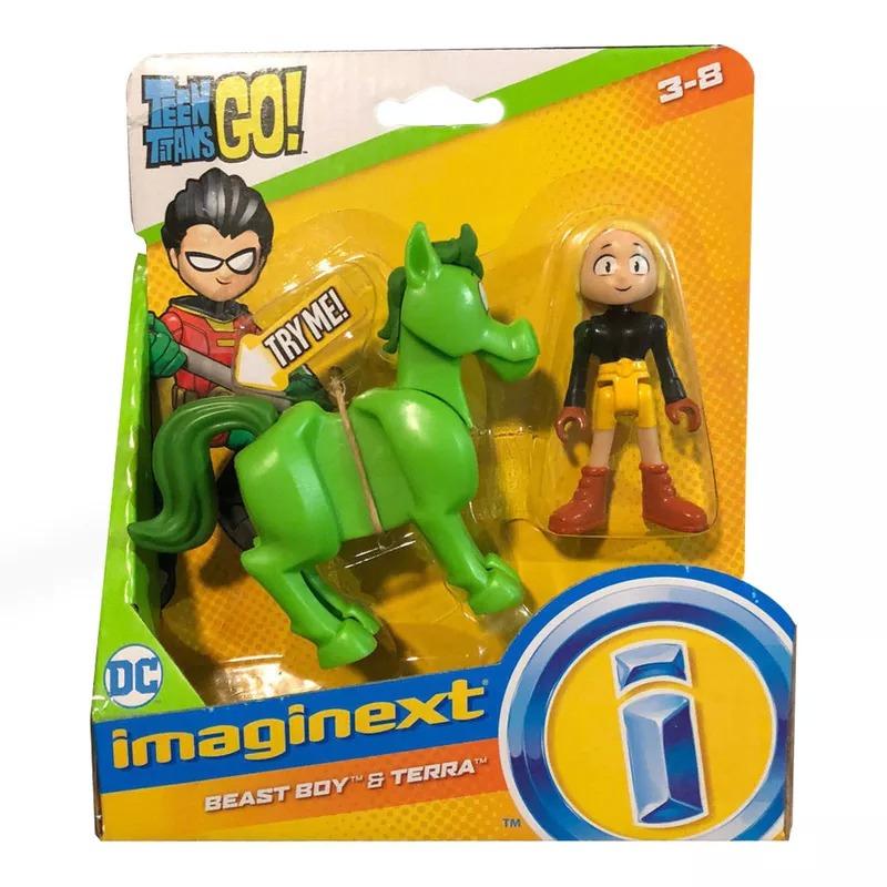 Mini Figura e Veículo Imaginext - DC Comics - Teen Titans Go - Mutano e Terra - Fisher-Price