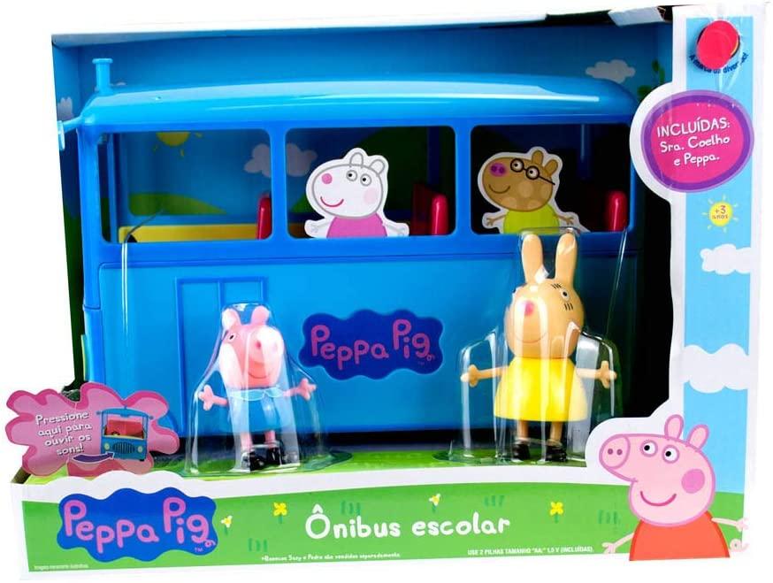 PEPPA PIG ONIBUS ESCOLAR DA PEPPA COM SOM SUNNY