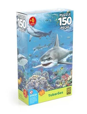 Quebra cabeça 150 pç Tubaroes - Grow