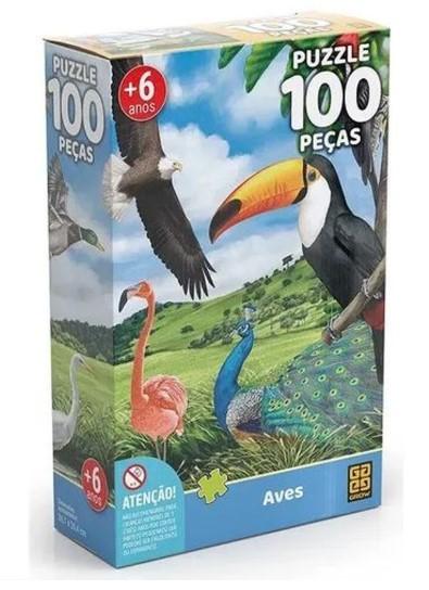 Quebra Cabeças 100 Peças Aves - Grow