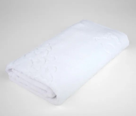 Toalha banhão francis jacquard branco 81x140 - Bouton