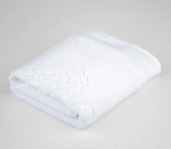 Toalha rosto francis jacquard branco 50x80 - Bouton