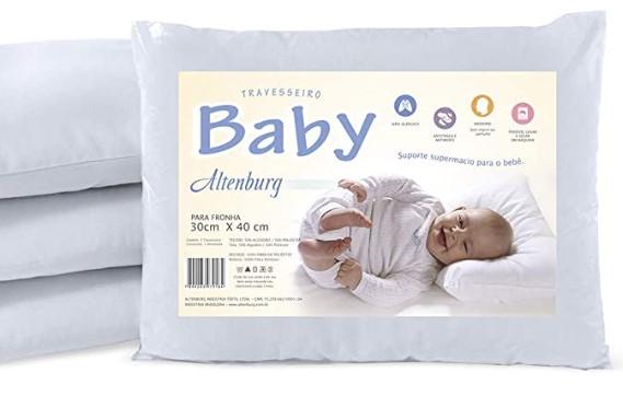 Travesseiro Baby Branco - Altenburg