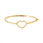 Bracelete Dourado de Coração Banhado a Ouro 18K