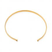 Bracelete Liso com Zircônia Banhado a Ouro 18K