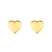 Brinco de Coração Pequeno Banhado a Ouro 18K