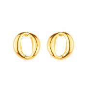 Brinco Dourado Elo Corrente Banhado a Ouro 18K
