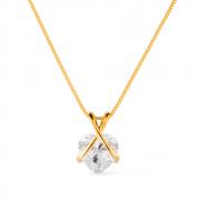 Gargantilha Pedra de Zircônia em formato de Coração Banhada a Ouro 18K