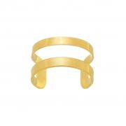 Piercing Fake Dourado Vazado Banhado a Ouro 18K