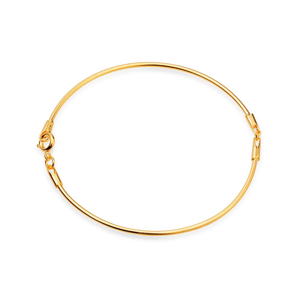 Bracelete Dourado de Tubo Banhado a Ouro 18K