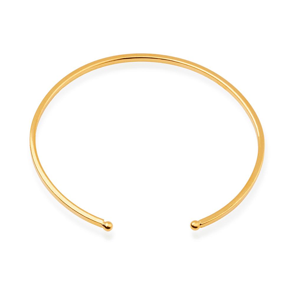 Bracelete Liso Banhado a Ouro 18K