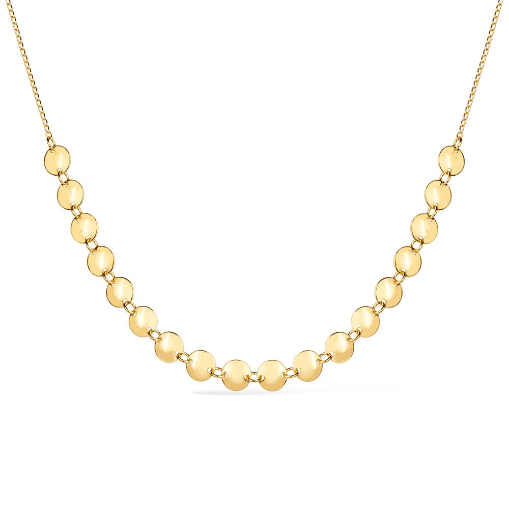 Chocker Meia Esfera Dourada com Extensor Banhada a Ouro 18K