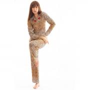 Pijama Longo Thais Gusmão Leoparda Feminino