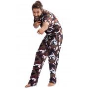 Pijama Longo Thais Gusmão Masculino Militar Savana