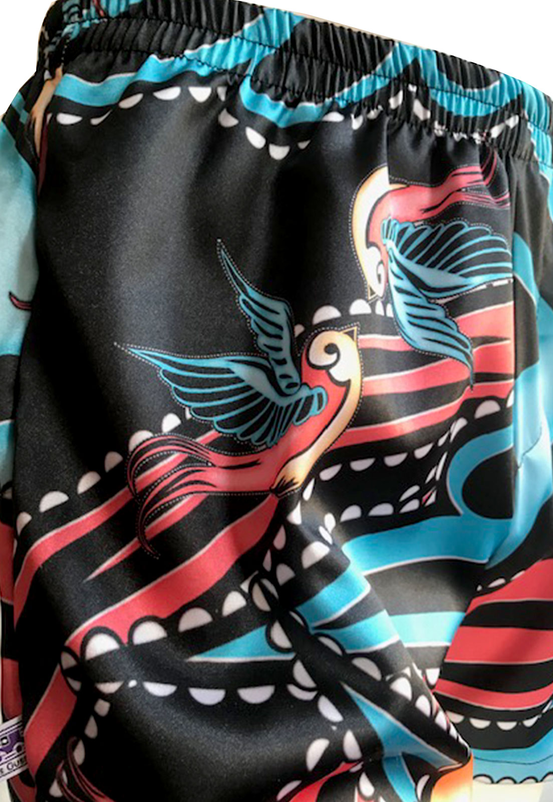 Cueca Shorts - Samba Canção Thais Gusmão Masculino Andorinha Colorido