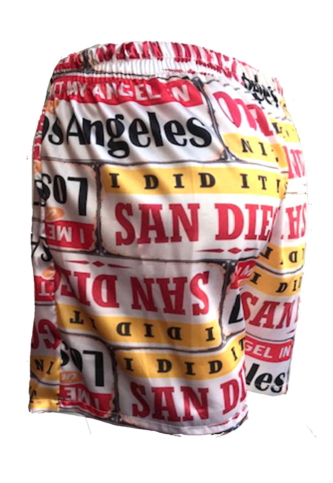 Cueca Shorts - Samba Canção Thais Gusmão Masculino Los Angeles Colorido