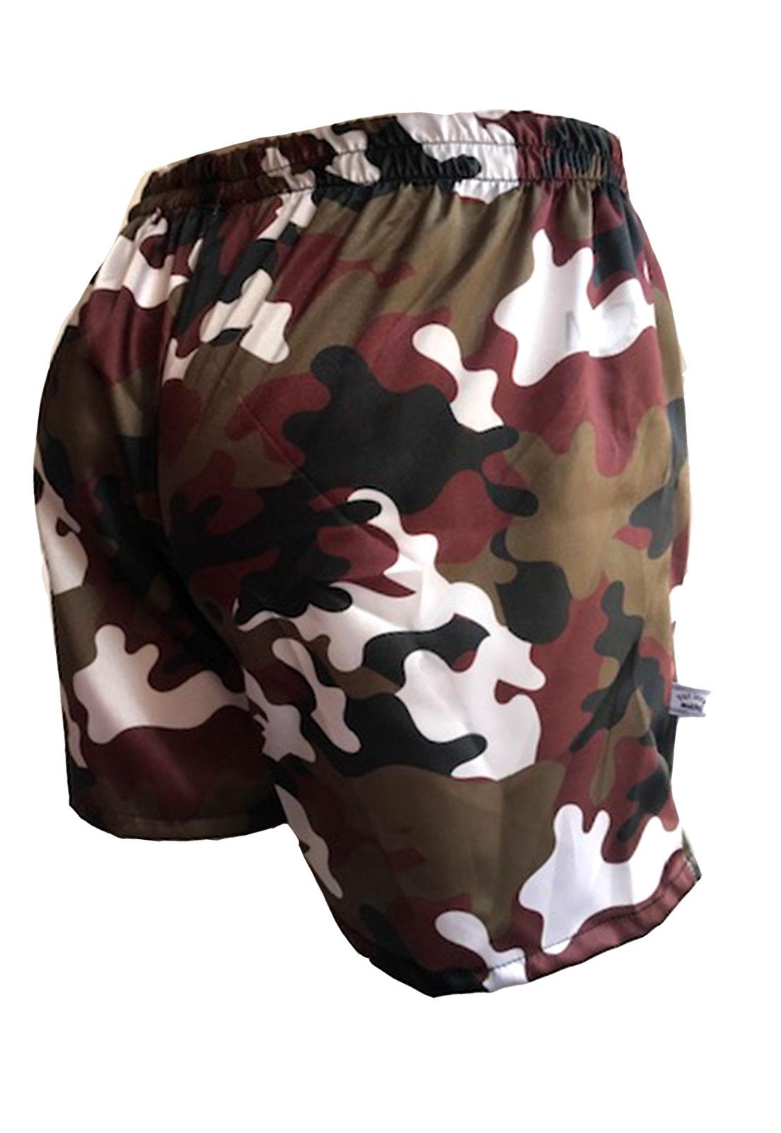 Cueca Shorts - Samba Canção Thais Gusmão Masculino Militar Savana