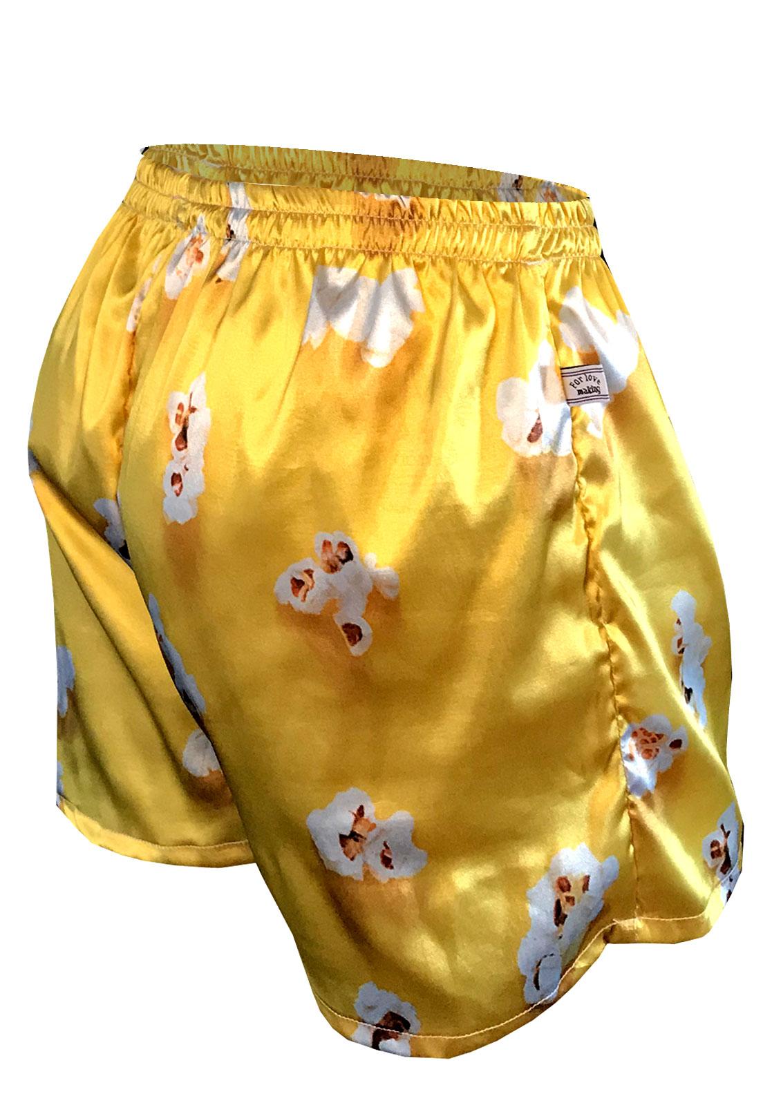 Cueca Shorts - Samba Canção Thais Gusmão Masculino Pipocas Amarela