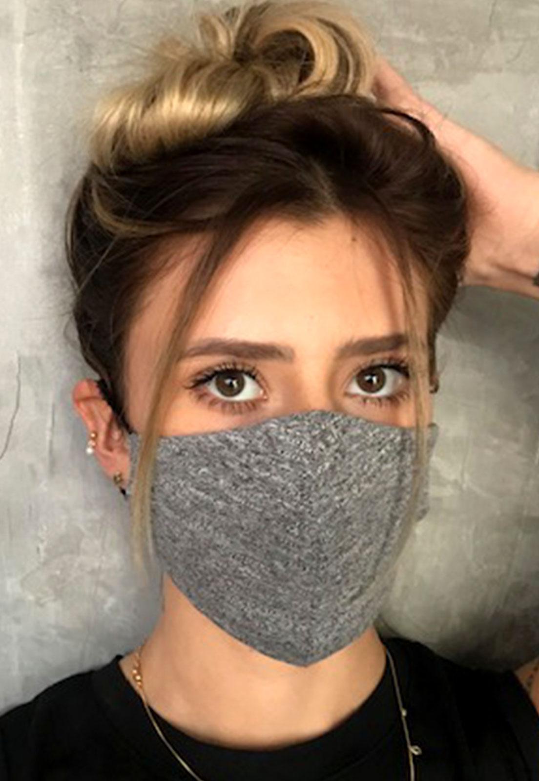 Máscara Dupla camada Cinza mescla