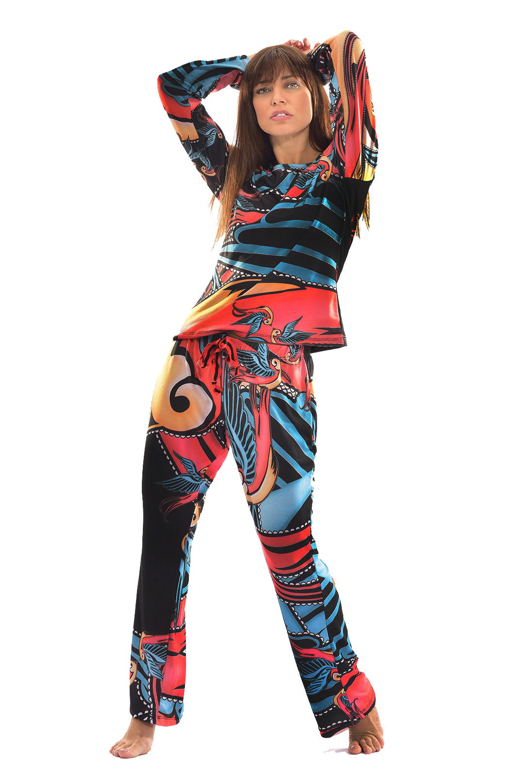 Pijama Longo Thais Gusmão Andorinha Feminino
