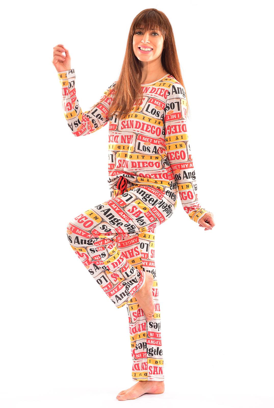 Pijama Longo Thais Gusmão Los Angeles Feminino