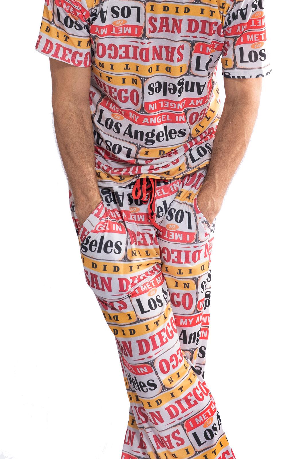 Pijama Longo Thais Gusmão Masculino Los Angeles