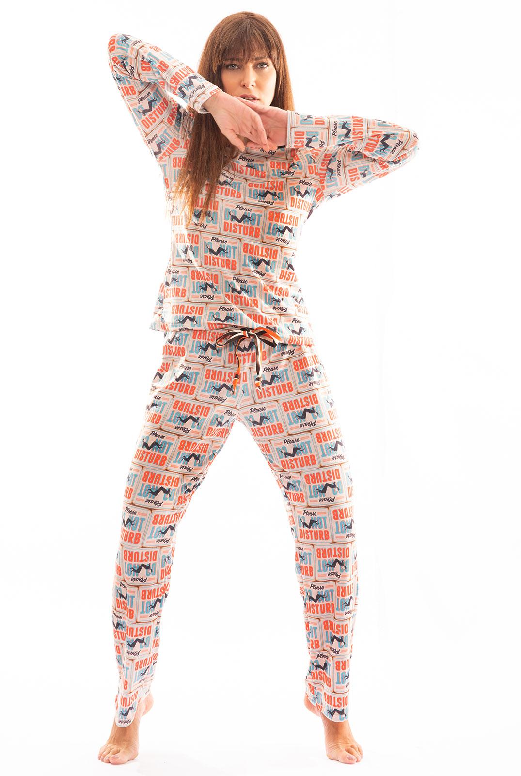 Pijama Longo Thais Gusmão Não Perturbe Feminino