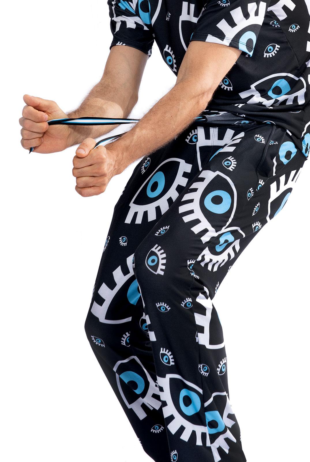 Pijama Longo Thais Gusmão Olho Grego Preto