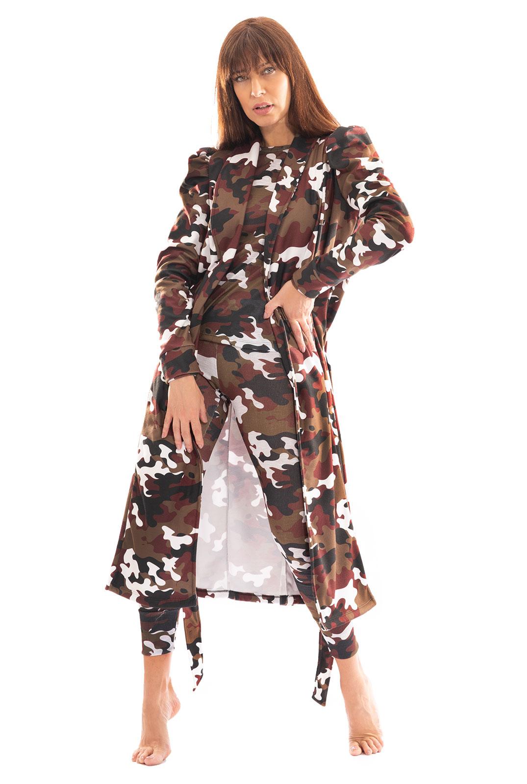 Robe Longo Thais Gusmão Militar Savana Feminino
