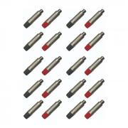 Kit C/ 20 Plug Rca Metal Linha Femea Wireconex