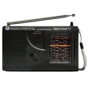 RADIO MOTOBRAS 7 Faixas RM-PSMP71 Preto