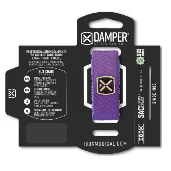 ABAFADOR P/CORDAS DAMPER IBOX Premium DTSM22 SM Roxo