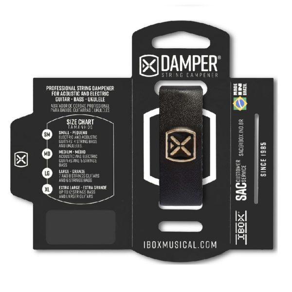 ABAFADOR P/CORDAS DAMPER IBOX Supreme DSSM02 SM Preto