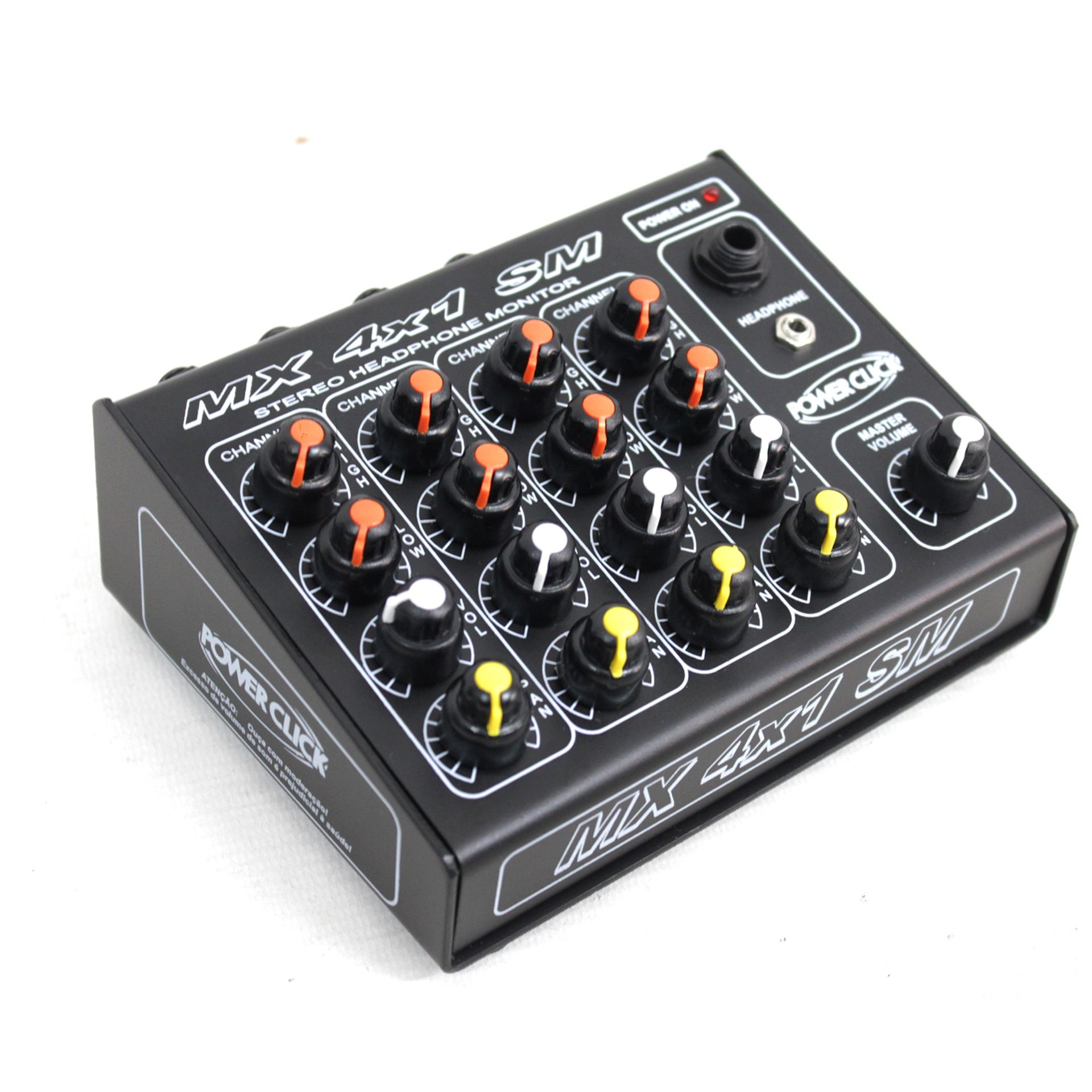 AMPLIFICADOR fones POWERCLICK MX 4x1 SM C/Fonte