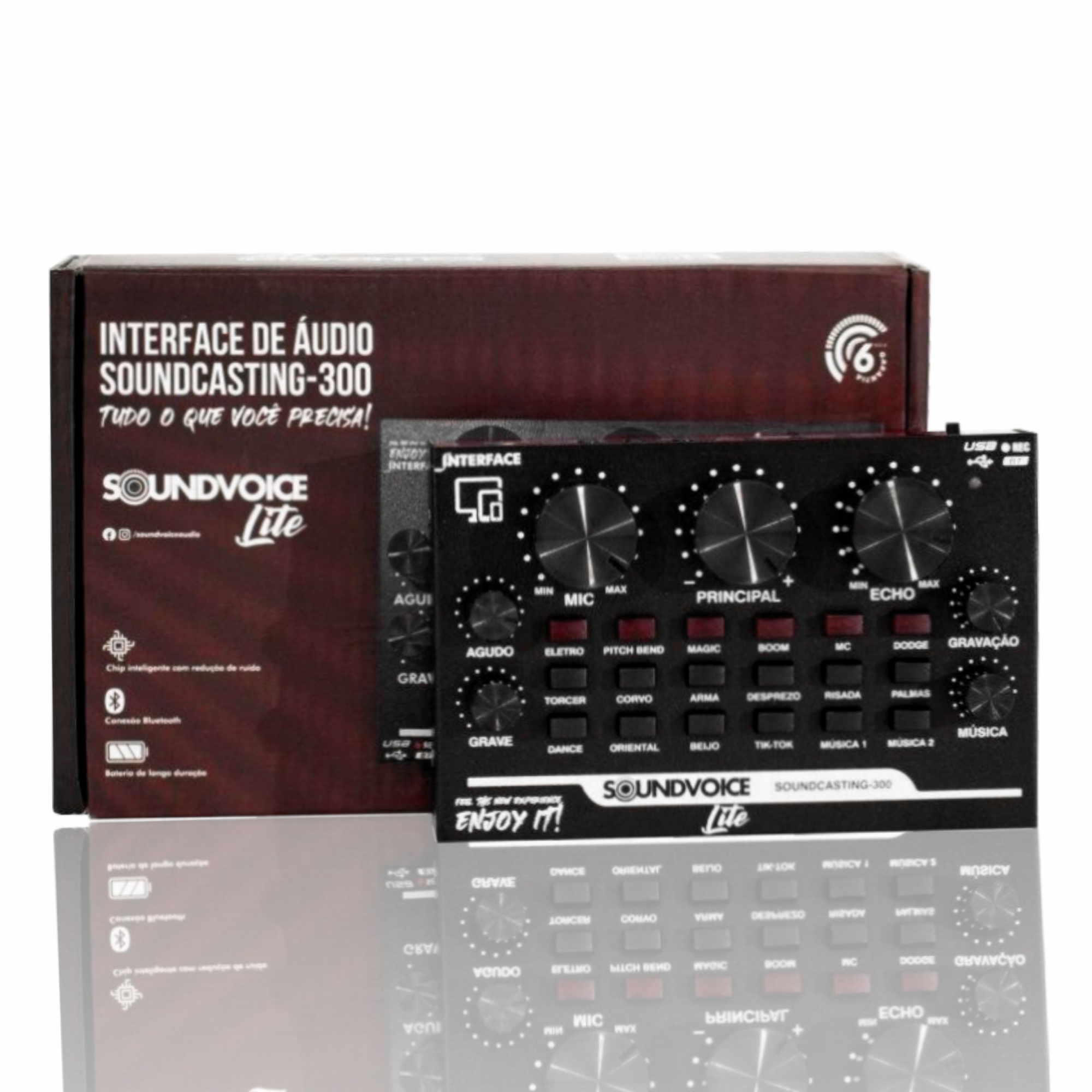 INTERFACE DE ÁUDIO SOUNDVOICE Soundcasting 300