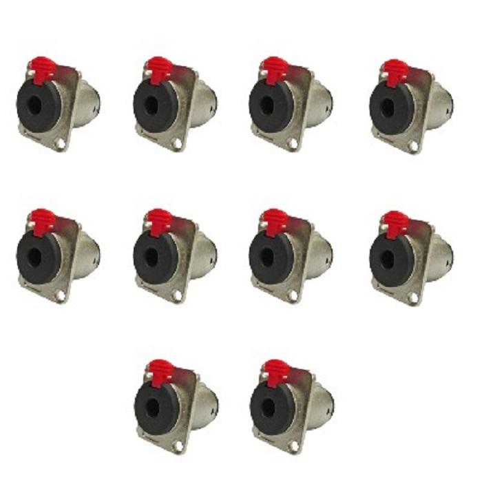 Kit C/ 10 Plugs J10 Painel C/Trava Wireconex