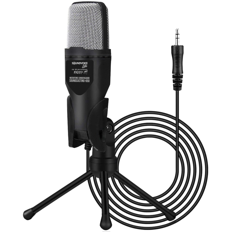MICROFONE condensador SOUNDVOICE Soundcasting-650