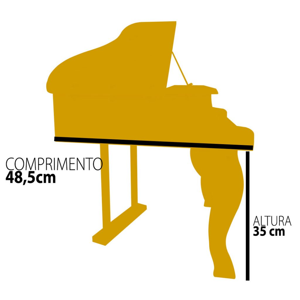 PIANO DE CALDA INFANTIL TURBINHO 30 Teclas