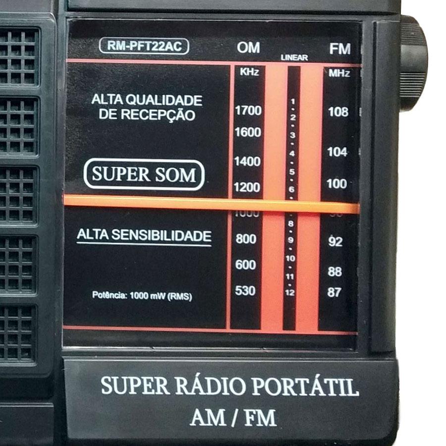 RADIO MOTOBRAS 2 Faixas RM-PFT22AC