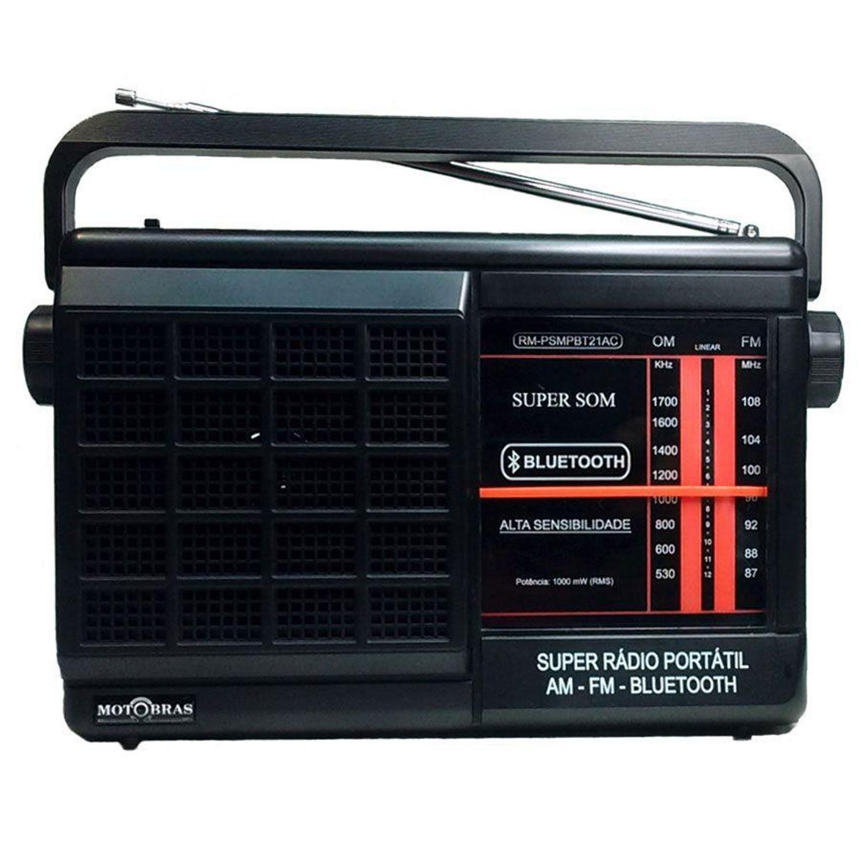 RADIO MOTOBRAS 2 Faixas RM-PSMPBT21AC Bluetooth