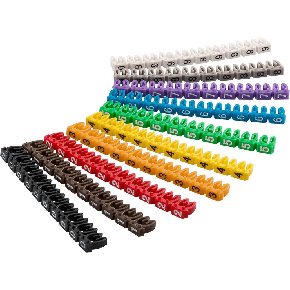 Anilha Marcadora para Cabos 0 - 9 com 100 peças - WIC3