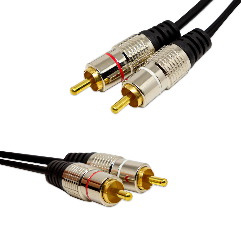 Cabo de Áudio 2 RCA Fitz Com 2,00 Metros