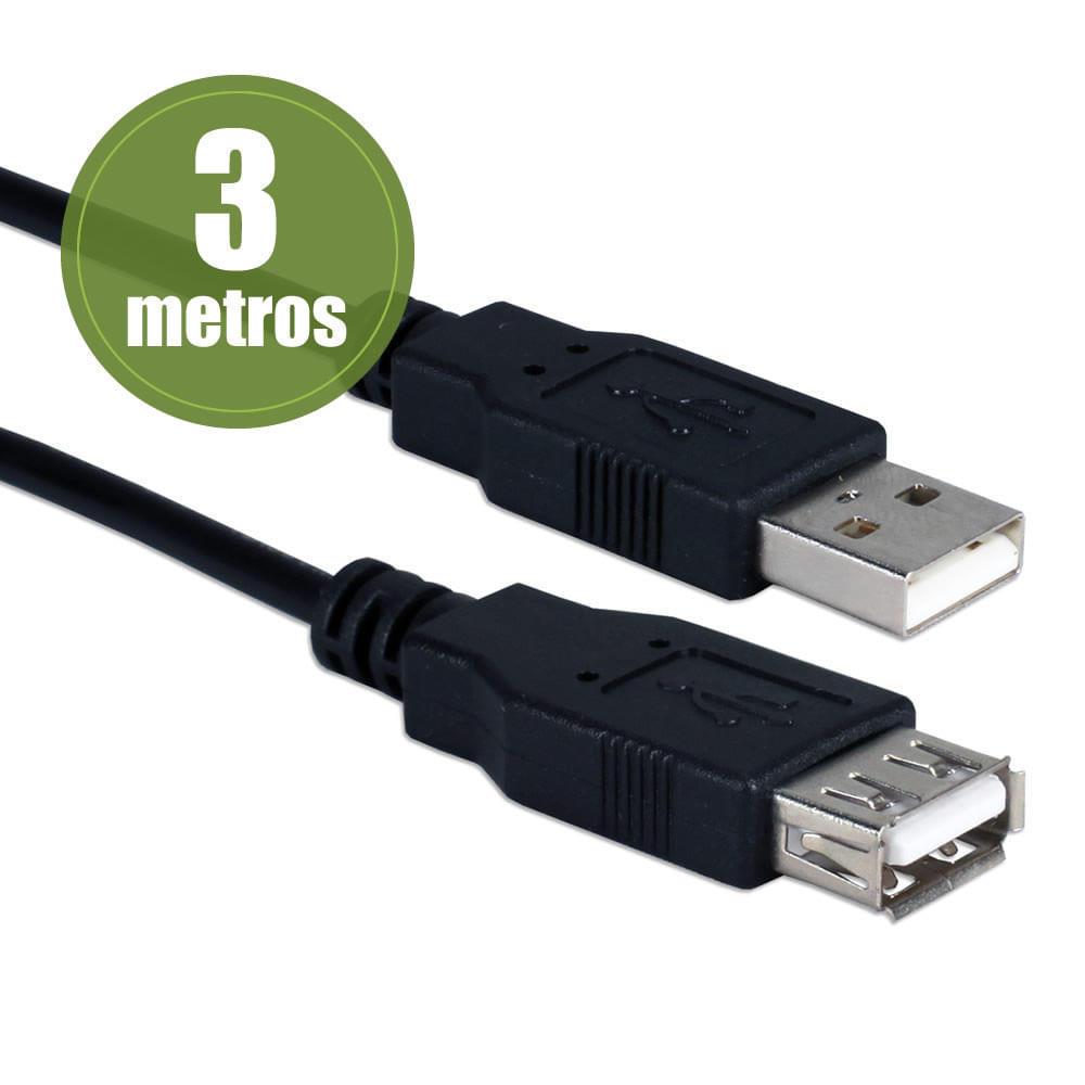 Cabo USB 2.0 AM/AF 3,00 Metros