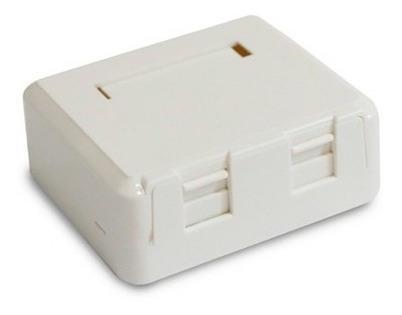 Caixa de Superfície Branca com Porta Retrátil 2 Saidas